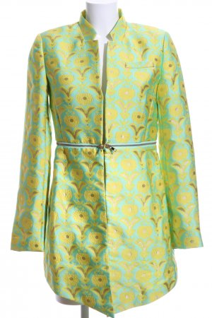 Alba Moda Blazer long turquoise-jaune citron vert style extravagant