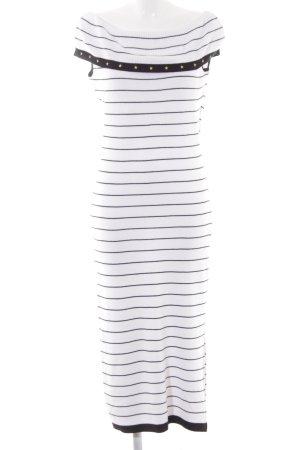 Alba Moda Maxikleid schwarz-weiß Streifenmuster Casual-Look