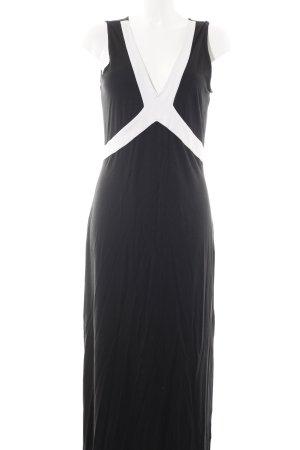 Alba Moda Maxikleid weiß-schwarz Elegant