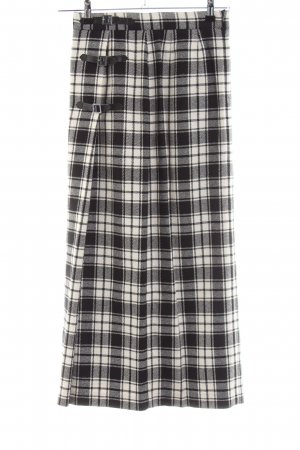 Alba Moda Falda larga negro-blanco estampado repetido sobre toda la superficie