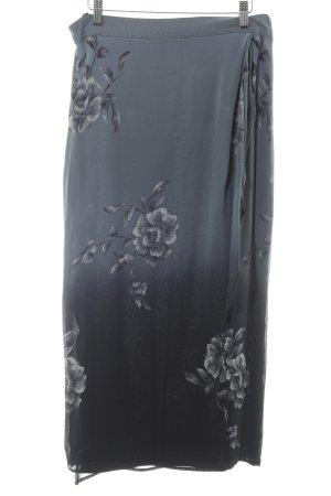 Alba Moda Falda larga gris pizarra estampado floral elegante