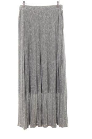 Alba Moda Falda larga gris claro moteado look casual