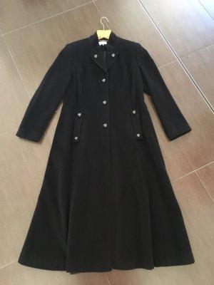 Alba Moda Abrigo de lana negro lana de esquila