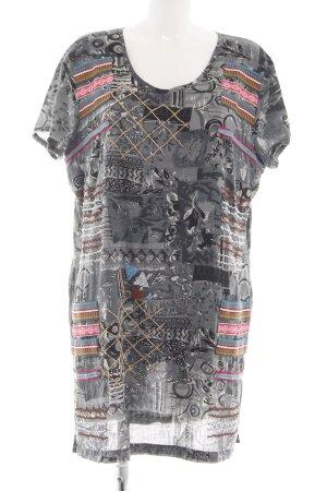 Alba Moda Mini Dress light grey abstract pattern casual look