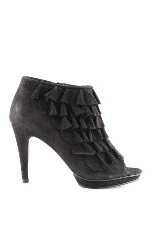 Alba Moda Peep Toe Pumps zwart zakelijke stijl
