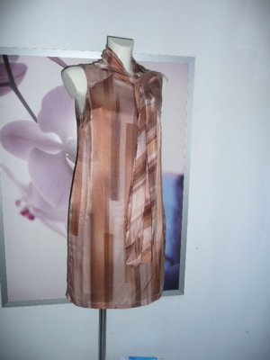 Alba Moda Print Etuikleid Dress m Schluppe Seide+BW mit Grafik Print