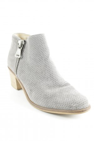 Alba Moda Reißverschluss-Stiefeletten grau Casual-Look