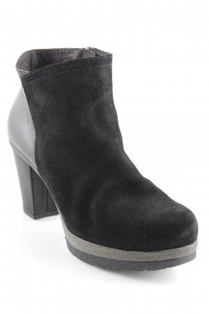 Alba Moda Reißverschluss-Stiefeletten schwarz-grau Casual-Look