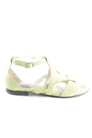 Alba Moda Sandales à lanière vert style décontracté