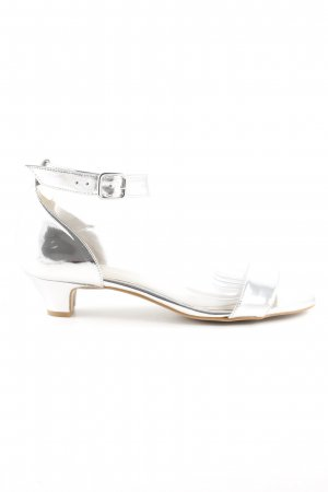 Alba Moda Strapped High-Heeled Sandals silver-colored metallic look