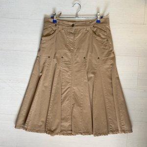 Alba Moda Falda midi camel-marrón claro Algodón