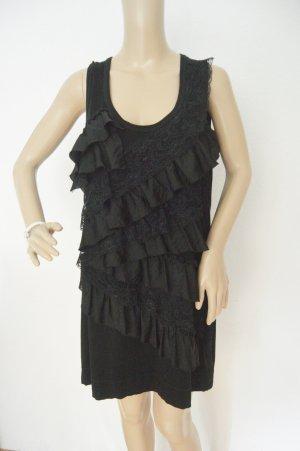 Alba Moda Top met franjes zwart