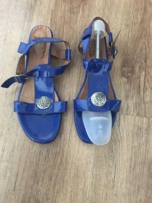 Alba Moda Sandalias de tacón de tiras azul