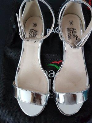 Alba Moda Sandletten sandalen Hochzeit Ball in silber Gr.38