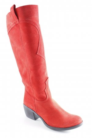 Alba Moda Jackboots bright red country style