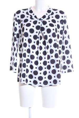 Alba Moda Schlupf-Bluse weiß-schwarz Punktemuster Business-Look