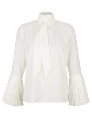 Alba Moda Long Sleeve Blouse white