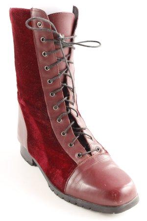 Alba Moda Bottes à lacets bordeau style extravagant