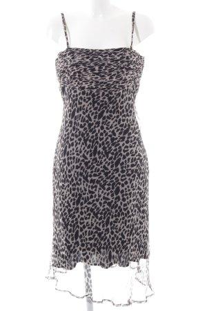 Alba Moda Robe épaules nues noir-rose motif léopard élégant