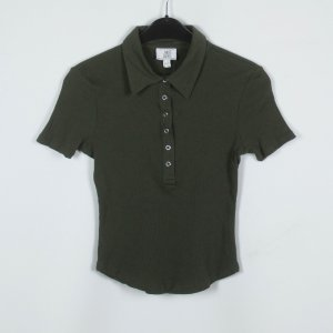 Alba Moda Ribbed Shirt khaki cotton