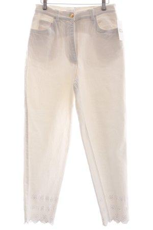 Alba Moda Slim Jeans weiß Romantik-Look