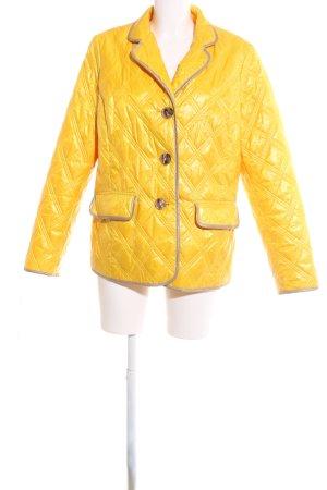 Alba Moda Chaqueta acolchada amarillo pálido estampado acolchado look casual