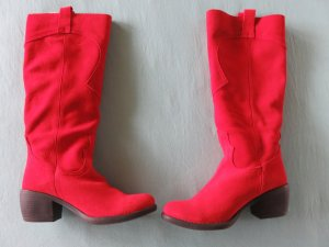 pretty nice 6f611 850ab Alba Moda Heel Boots red leather