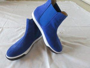 Alba Moda Stivaletto slip-on bianco-blu Pelle