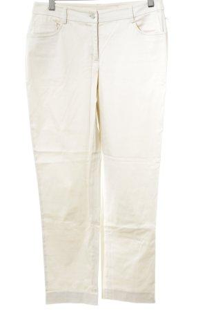 Alba Moda Stoffhose creme schlichter Stil