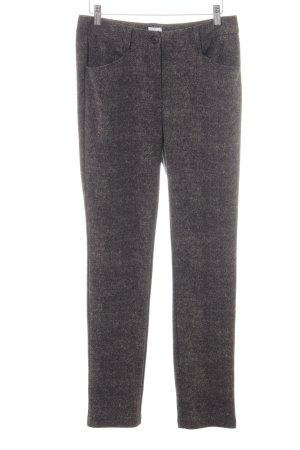 Alba Moda Pantalón tipo suéter gris oscuro moteado estilo «business»
