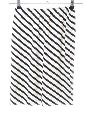 Alba Moda Stretchrock weiß-schwarz Streifenmuster Casual-Look
