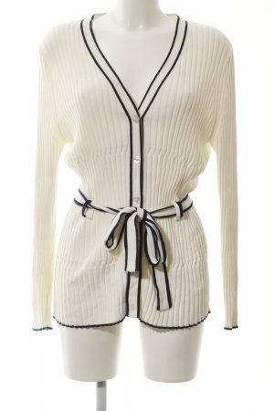 Alba Moda Knitted Cardigan natural white-black casual look