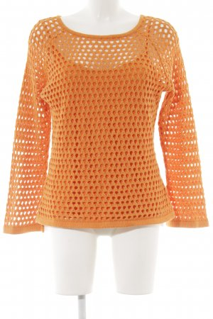 Alba Moda Strick Twin Set dunkelorange Casual-Look