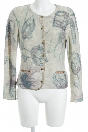 Alba Moda Strickjacke florales Muster Country-Look