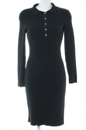 Alba Moda Knitted Dress black cable stitch casual look