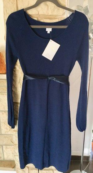Alba Moda Knitted Dress dark blue cotton