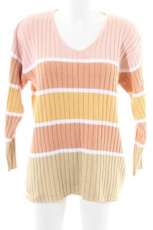 Alba Moda Pull tricoté motif rayé style décontracté