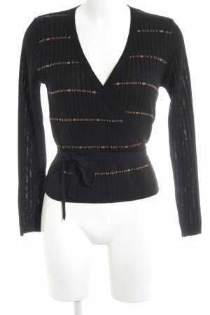 Alba Moda Gebreide wikkeljas zwart-brons casual uitstraling