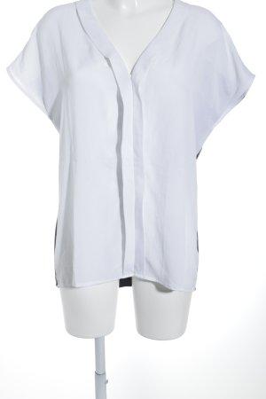 Alba Moda T-Shirt weiß-dunkelgrau schlichter Stil