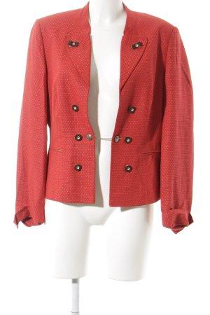 Alba Moda Veste bavaroise rouge-blanc cassé motif de tache style classique