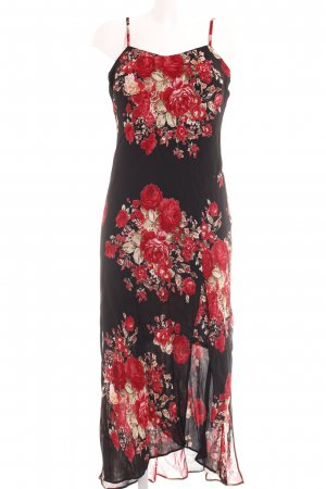 Alba Moda Robe à bretelles motif de fleur élégant
