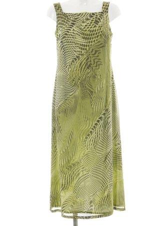 Alba Moda Robe à bretelles kaki Mélange de motifs style décontracté