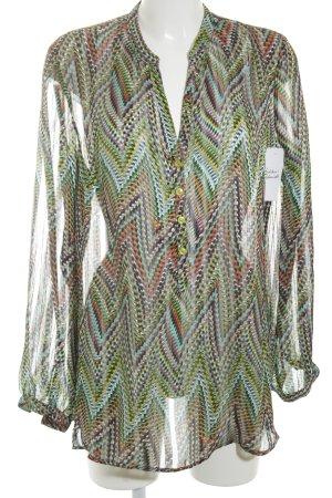 Alba Moda Transparenz-Bluse grafisches Muster klassischer Stil