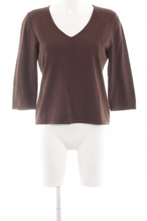Alba Moda V-Neck Sweater brown casual look