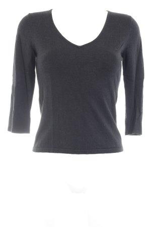 Alba Moda V-Ausschnitt-Pullover schwarz Casual-Look