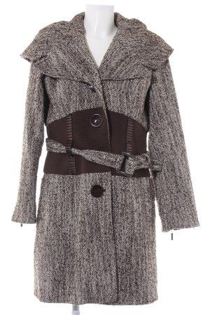Alba Moda Wintermantel dunkelbraun-wollweiß meliert klassischer Stil