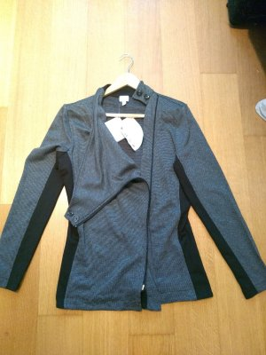 Alba Moda Shirtjack zwart-grijs