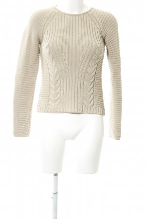 Alba Moda Cable Sweater natural white cable stitch casual look