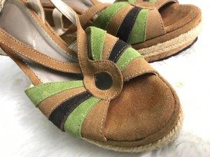 Alba Moda Clog Sandals multicolored leather