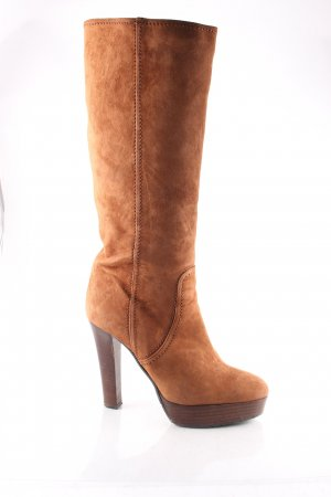 Albano Heel Boots cognac-coloured classic style